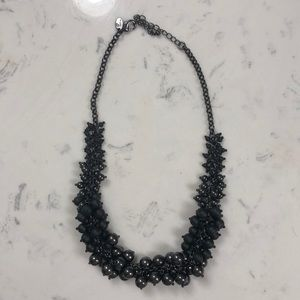 Matte black and shiny black statement necklace